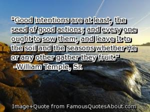 Good intention quote
